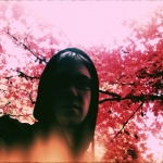 Rab in some pink trees